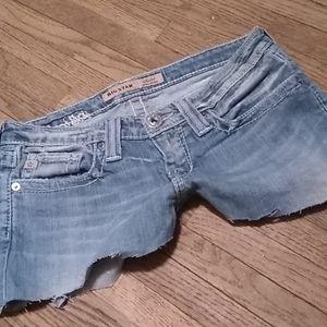 Big Star Sweet ultra-low rise denim shorts (26)